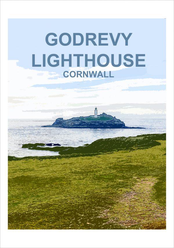 Godrevy Lighthouse Print