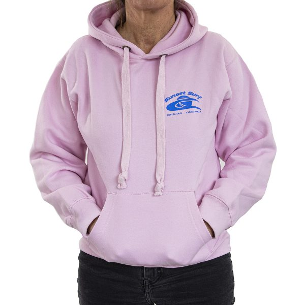 Sunset Surf Adult Hoodie Pale Pink
