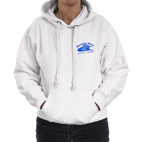 Sunset Surf Adult Hoodie White