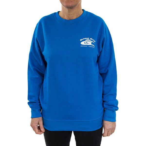 Sunset Surf Adult Sweatshirt Sapphire