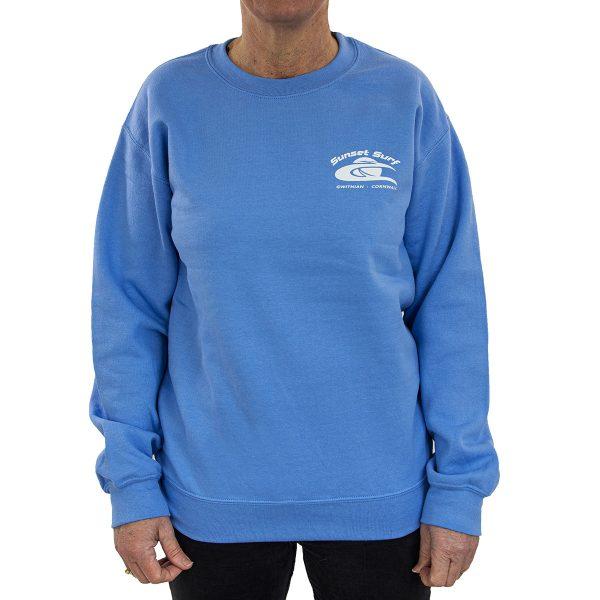 Sunset Surf Sweatshirt Carolina Blue