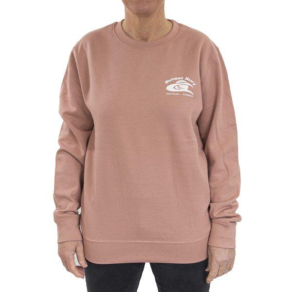 Sunset Surf Adult Sweatshirt Dusty Pink