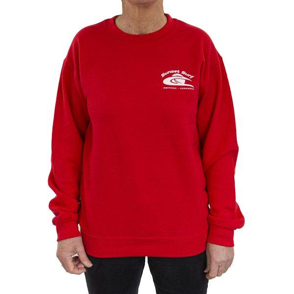 Sunset Surf Adult Sweatshirt Red