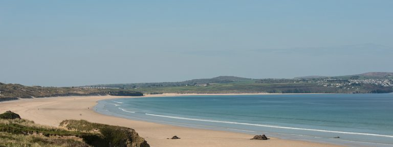 View Along Gwithian Beach